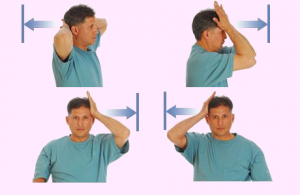 neck exercises at office desk